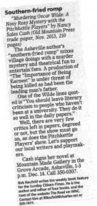 sheville Citizen Time Review on Murdering Oscar Wilde